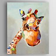 מצויר ביד בעלי חיים Pop מאונך,מודרני פנל אחד בד ציור שמן צבוע-Hang For קישוט הבית