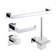 Zestaw akcesoriów łazienkowych , Współczesny Polerowanie lustrzane Ścienny