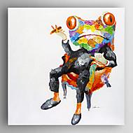 מצויר ביד בעלי חיים מרובע,מודרני פנל אחד בד ציור שמן צבוע-Hang For קישוט הבית