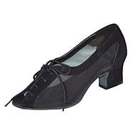 Szabványos méret - Vaskosabb sarok - Szatén / Műbőr - Latin / Salsa / Samba / Swing-cipők - Női