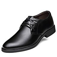 Masculino sapatos Couro Primavera Verão Outono Inverno Conforto Botas da Moda Oxfords Caminhada Fru-Fru Cadarço Para Casual Festas & Noite