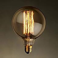 E27 40W G125 egyenes vezeték nagy izzó villanykörte Edison retro dekoratív izzók