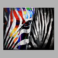 ציור שמן יד טהורה מופשטת מודרנית לצייר מוכן לתלות דקורטיבי ציור שמן זברה