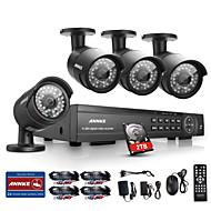 annke 16chのHD 1080pのDVR HDMI、4つの屋外IR家庭用ビデオセキュリティカメラシステム2TB