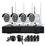 yanse® 연결하고 실내 / 실외 IR 밤 비전 보안의 IP 카메라 와이파이 cctv 시스템 무선 NVR 키트의 P2P 720p의 HD 재생
