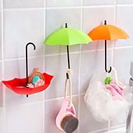 傘スタイルレーヨンフック装飾小さなオブジェクト赤、ピンク、黄色の3枚