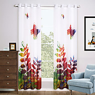 Dvije zavjese Moderna Cvjetni / Botanički Višebojne Living Room Polyester Sheer Zavjese Shades