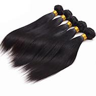 200g / 4 paquets de cheveux perruens cheveux humains cheveux tissés couleur naturelle cheveux 8-26 pouces vierges