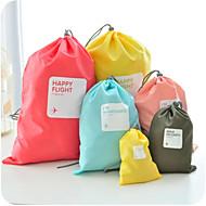 4PCS 旅行かばん 荷物整理 シューバッグ 防水 防塵 多機能 のために 男女兼用 小物収納用バッグ ナイロン-イエロー コーヒー レッド ブルー ピンク