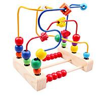 perles en bois autour de trois lignes de jouets autour de la fleur perles cadre bébé jouet pour enfants classique en peluche