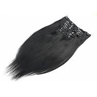 20-24inch 8pieces 100g hiukset leikkeen ihmisen hiusten pidennykset