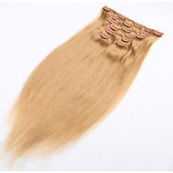 클립 헤어 확장 자연 인간의 머리카락 부드러운 브라질 헤어 제품에 클립 - 20 개 색상을 사용할 수는