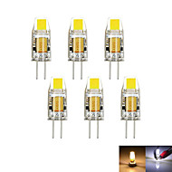 6pcs/lot G4 2W 1COB 100-150 lm Dimmable Warm/Cool White MR11 LED Bi-pin Lights DC/AC 12 V