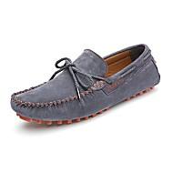 남성 보트 신발 모카신 스웨이드 봄 여름 가을 캐쥬얼 드레스 모카신 다크 블루 그레이 옐로우 2.5cm- 4.5cm