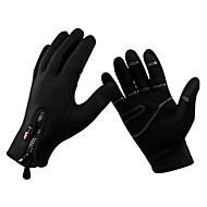 Перчатки Спортивные перчатки Жен. Муж. Все Перчатки для велосипедистов Осень Зима ВелоперчаткиСохраняет тепло Ветронепроницаемый Дышащий