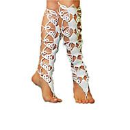 女性 アンクレット/ブレスレット ファブリック ファッション 調整可能 愛らしいです シンプルなスタイル ホワイト 婦人向け ジュエリー 結婚式 パーティー カジュアル 1ペア