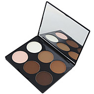 Maycheer 6 Color 2in1 Bronzer&Highlighting Contour Concealer Powder Bright&Matte Makeup Cosmetic Palette with Mirror