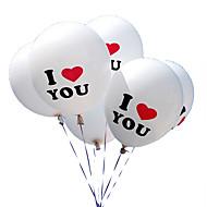 100kpl / erä 12 tuumaa rakastan sinua helmi latex ilmapalloja globos ilmapalloja joulua häät koristeet