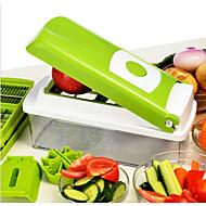 1 ks Apple Mrkev Oranžová Cibule Okurka Rajčatová Cutter & Slicer For u ovoce pro Vegetable NerezMultifunkční Vysoká kvalita Tvůrčí