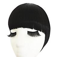 naturel noir avec cerceau de cheveux doubles temples à Bang pur (naturel noir)