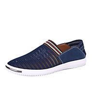 Szabadidős / Irodai / Alkalmi Férfi cipő Tüll Mokaszinek Kék / Szürke