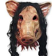 máscaras de porco assustador cosplay rosto cheio o dia das bruxas festival de aniversário material borracha festa a fantasia teatro máscara