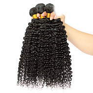 Az emberi haj sző Mongol haj Kinky Curly 12 hónap 3 darab haj sző