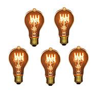 5db A19 E27 40W izzó vintage lámpa, háztartási bár kávézó hotel (220-240)