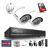 sannce® 4ch 720p камера ахд Vedio Видеорегистратор видеонаблюдения домой наблюдения камеры системы безопасности встроенный 1tb НЖМД