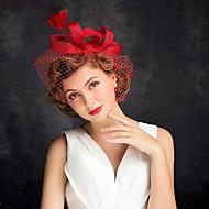Women's Feather Tulle Headpiece-Special Occasion Fascinators 1 Piece