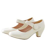 נעלי נשים - בלרינה\עקבים - דמוי עור - עקבים / מעוגל - שחור / צהוב / ורוד / בז' - שטח / שמלה / קז'ואל - עקב עבה