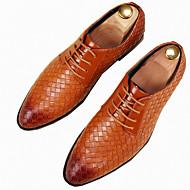 Masculino sapatos Couro Ecológico Primavera Outono Sapatos formais Oxfords Para Casual Festas & Noite Branco Preto Amarelo Vermelho