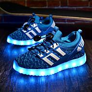 Para Meninos-Tênis-Conforto Light Up Shoes-Rasteiro-Preto Verde Azul Real-Tecido-Para Esporte