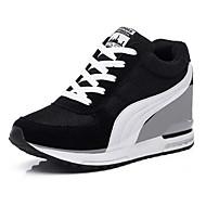 Damen-Sneaker-Lässig Sportlich-Tüll-Keilabsatz-Komfort-Schwarz Blau Rot
