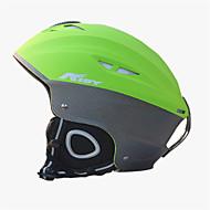 남여 공용 헬멧 L : 58-61CM 스포츠 울트라 라이트 (UL) 장착된 14 CE EN 1077 스노우 스포츠 / 스키 그린 PC / EPS