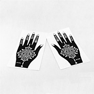 2pcs henné & aérographe tatouage stencil s103