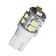 4 x Super white T10 10-SMD LED pro interiéry automobilů žárovky 168 194 2825 921 912 sto šedesát jedna
