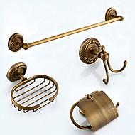 Tilbehørssæt til badeværelset Håndklædestang Toiletrulleholder Knage Sæbeskål Håndklædevarmer / Antik bronzeMessing /Antik