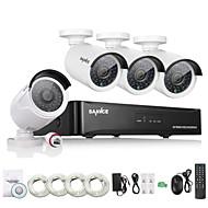 sannce® 4 채널의 HD 1.3 MP 960P의 NVR의 포 보안 IP 카메라 키트 시스템 홈 네트워크 야외