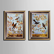 Dier Ingelijst canvas / Ingelijste set Wall Art,PVC Materiaal Bruin Zonder passepartout met Frame For Huisdecoratie Frame Art