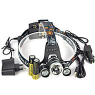 Pandelamper Forlygte stropper sikkerhedslys LED 13000 Lumen 1 Tilstand Cree XM-L T6 18650 Lygtehoved Super let Passer til Køretøjer