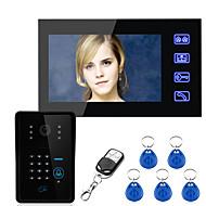 Ennio tocar chave do sistema da porta de vídeo senha RFID interfone 7 lcd wth sistema de controle de acesso de câmera IR