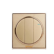 goud ronde muur huishouden switch aansluitpaneel