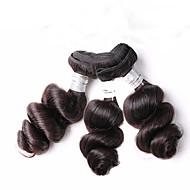 Ljudska kosa Brazilska kosa Ljudske kose plete Valovita kosa Ekstenzije za kosu 3 komada Crna