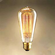 25W Edison st64 egyenes huzal izzók eladó Edison dekoráció fény
