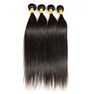 4bundles / 200g brasão virgem virgem brasileira 100% de extensões de cabelo humano não processadas podem ser tingidas e branqueadas