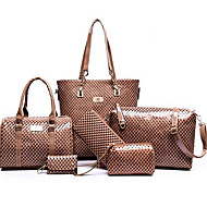 Women Bag Sets PU Casual Outdoor Gold Black Ruby Blue