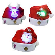 3pcs / lot Natal Presentes Do Natal luminescência chapéus miúdos chapéu criança parágrafo decalques desenhos animados tampões do Natal