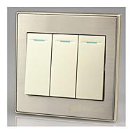 interruptor de três painel único painel interruptor de parede 86