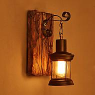lâmpada de parede cor única cabeça do vintage industrial retro madeira pintura metálica para a luz a parede da casa / hotel / corredor